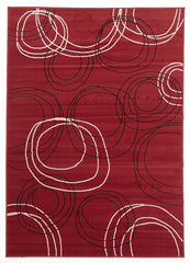 Silver BCF 1290 R55 Rug - Red Black Off White