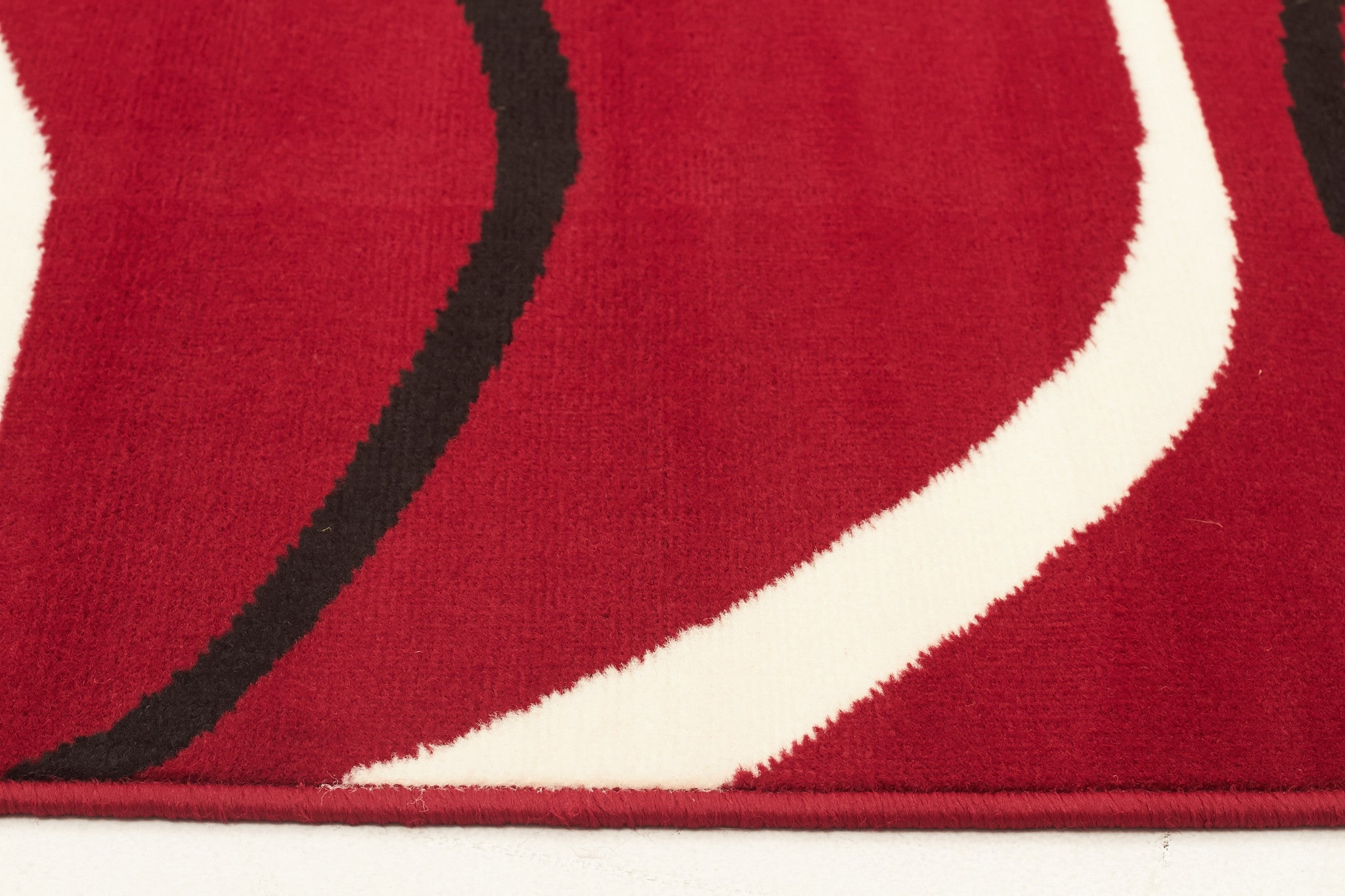 Silver BCF 1291 R55 Rug - Red