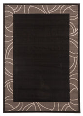Silver BCF 1349 H11 Rug - Black Grey