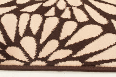 Modern Burst Pattern Rug Brown Beige