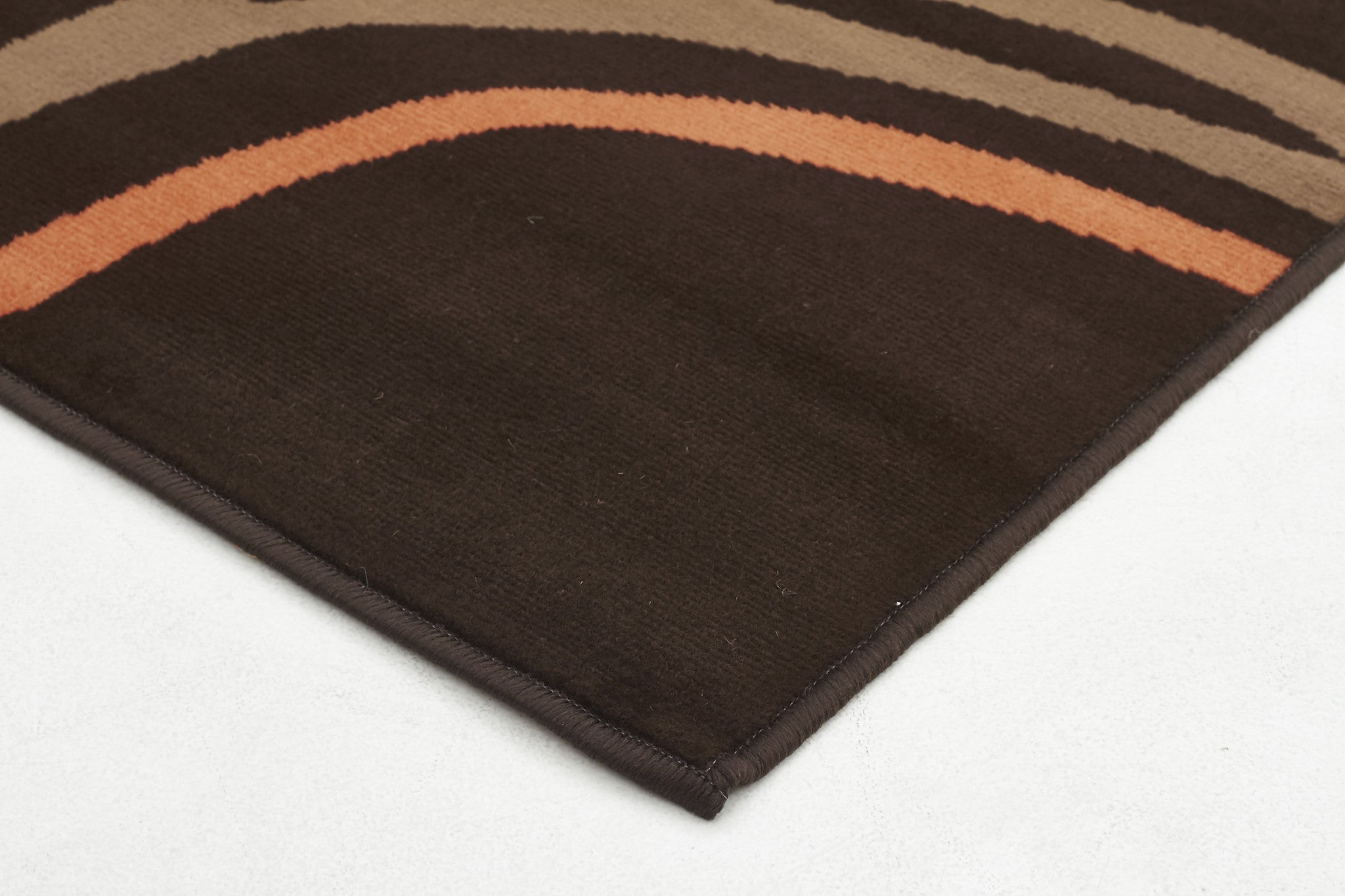 Scribble Modern Rug Brown