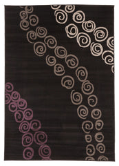 Pebble Pathway Rug Black
