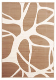 Abstract Modern Rug Beige