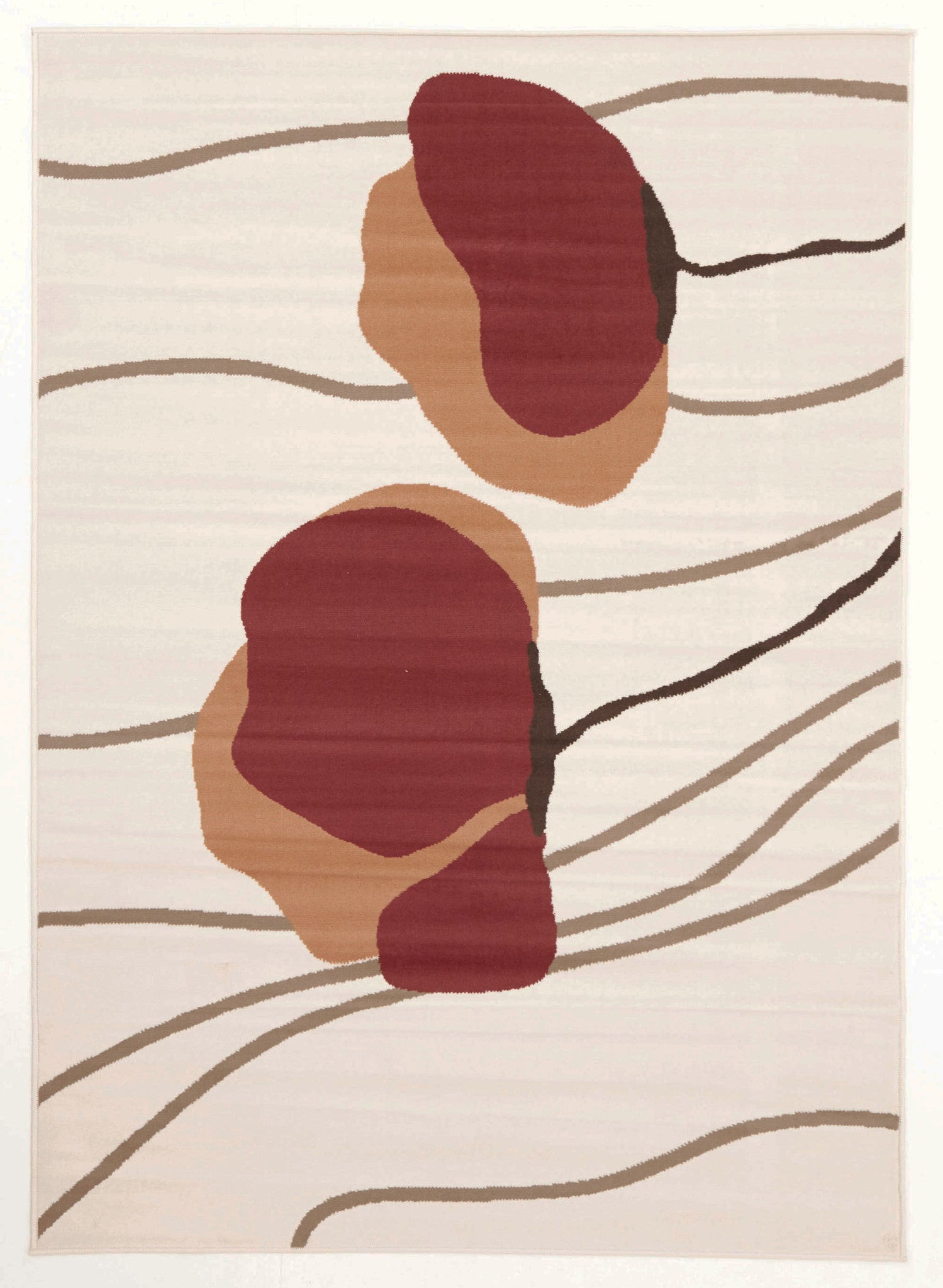 Poppies Modern Beige Rug