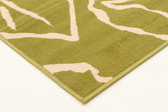 Modern Flower Outline Rug Green