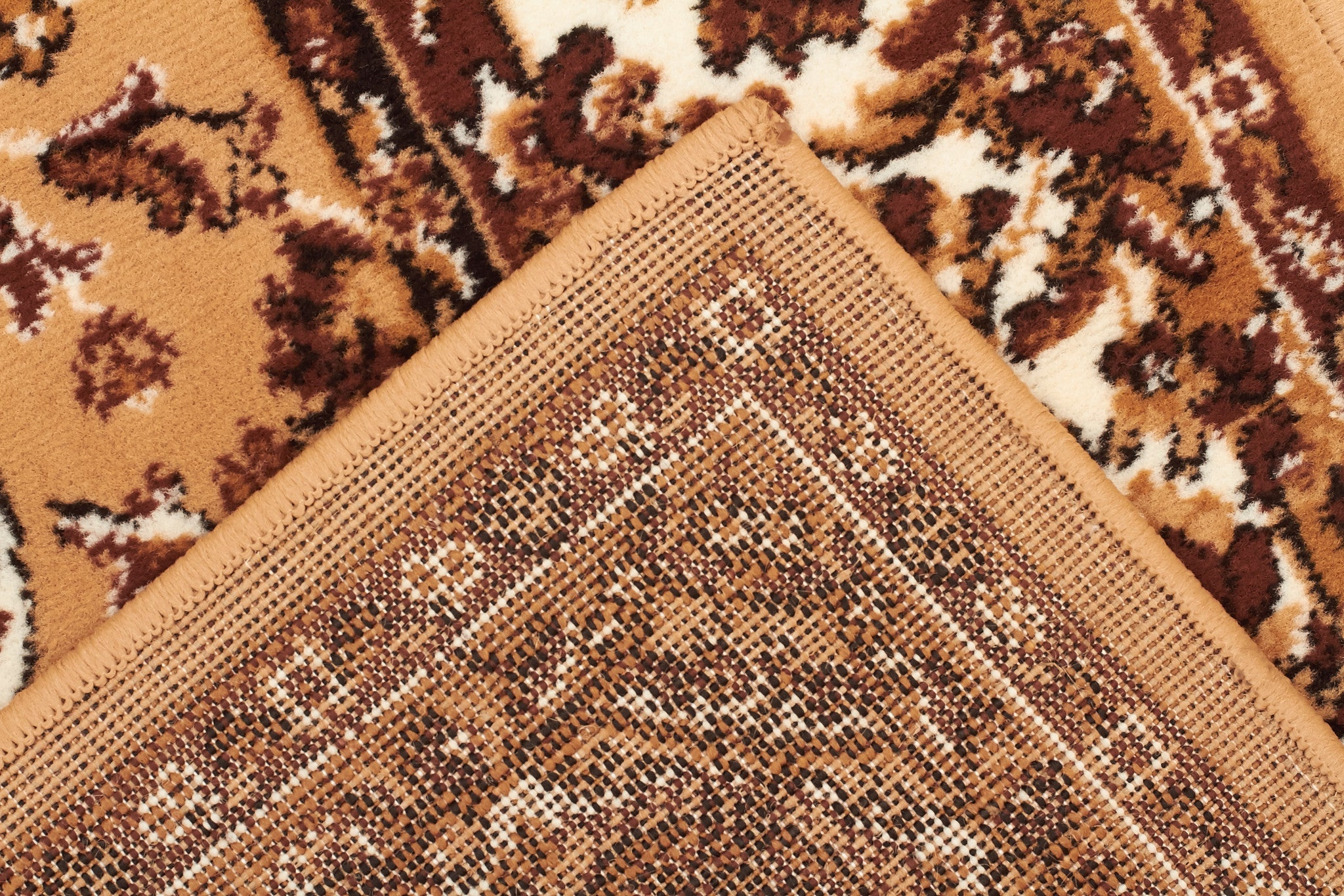 Traditional All Over Pattern Rug Beige