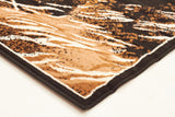 Awesome Horse Design Rug Beige Black