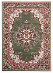 Traditional Pattern Medallion Rug Green