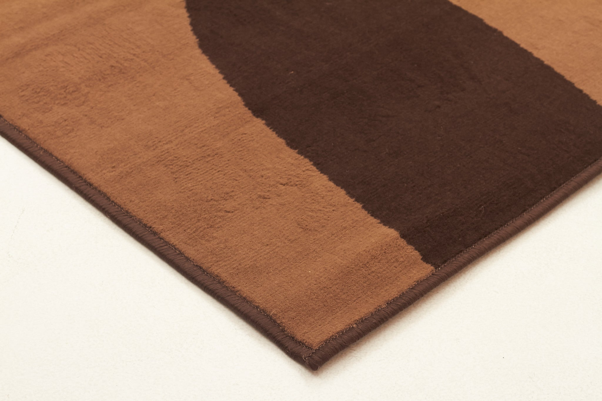 Funky Modern Rings Rugs Brown Beige