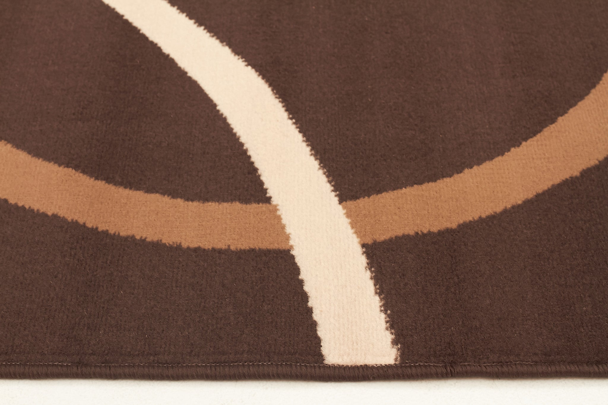 Modern Rug Brown Beige Cream