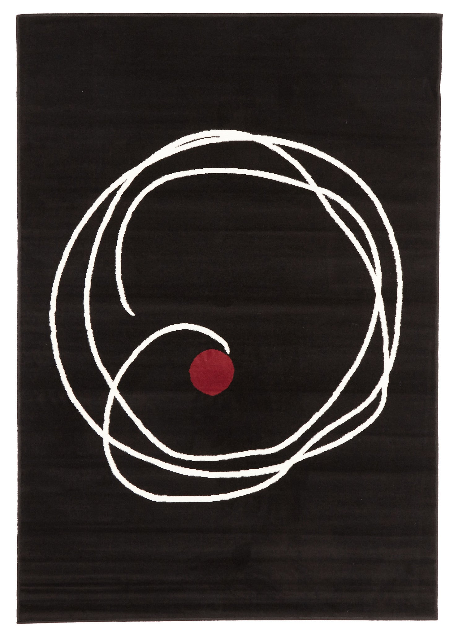 Super Trendy Black Swirl Rug