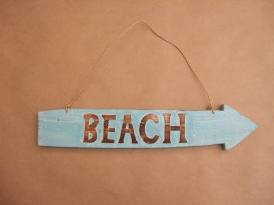 Beach Arrow Turquoise Sign