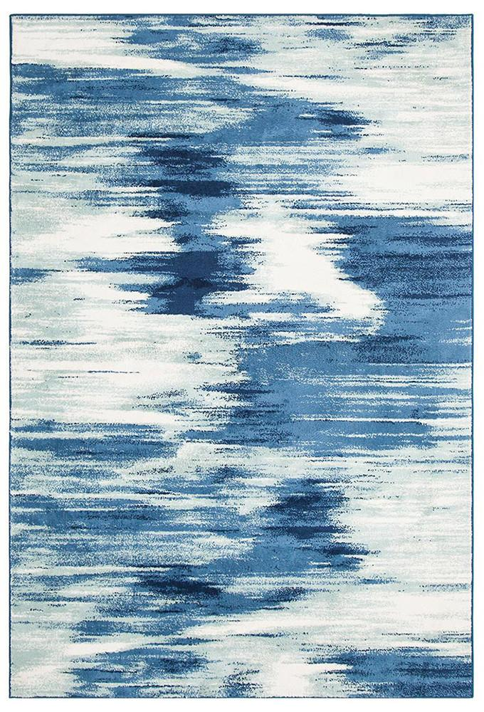 Chelsea Dreamy Modern Rug - Blue Cream