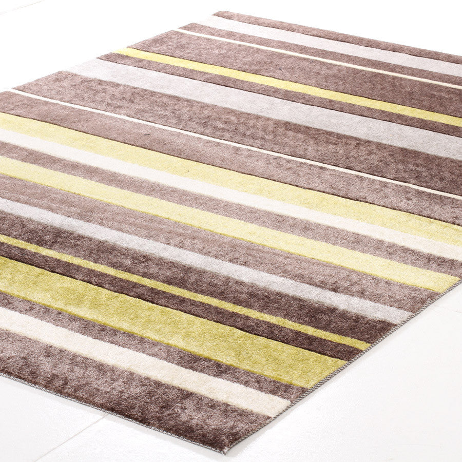 City 554 Rug - Brown Green
