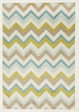 City 559 Rug - Green Brown Cream