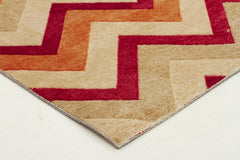 City 559 Design Rug - Rust Red