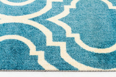 Modern Trelliss design Rug Peacock