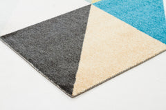 Stunning Matrix Rug Raspberry Blue