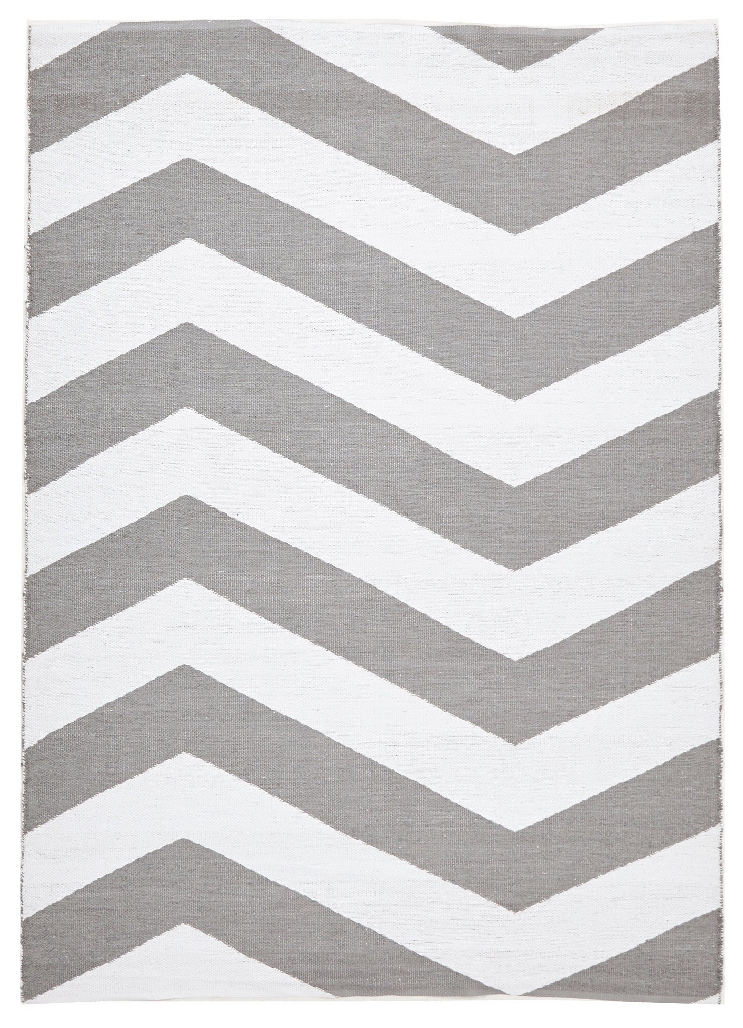 Coastal Indoor Out door Rug Chevron Grey White