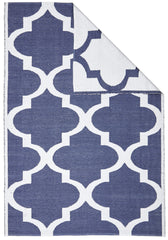 Coastal 2 Indoor Outdoor Rug - Trellis Navy White
