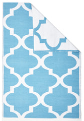 Coastal 2 Indoor Outdoor Rug - Trellis Turquoise White