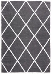 Coastal 3 Indoor Outdoor Rug - Diamond Black White