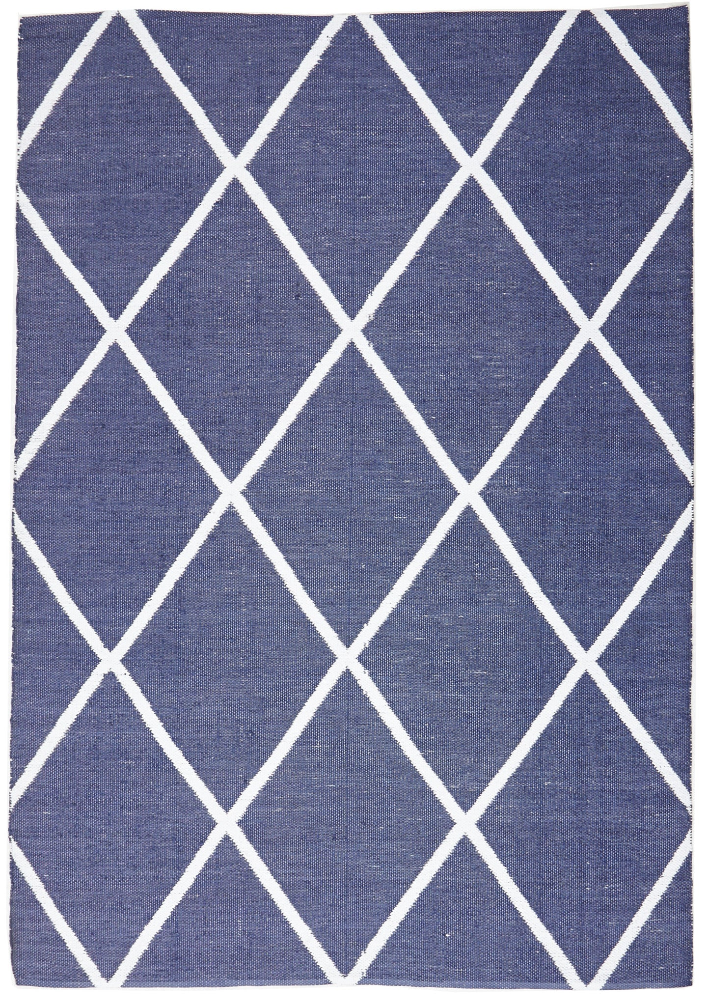 Coastal 3 Indoor Outdoor Rug - Diamond Navy White