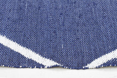 Coastal Indoor Out door Rug Diamond Navy White