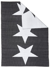 Coastal 4 Indoor Outdoor Rug - Star Black White