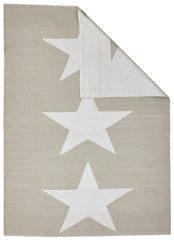 Coastal 4 Indoor Outdoor Rug - Star Taupe White