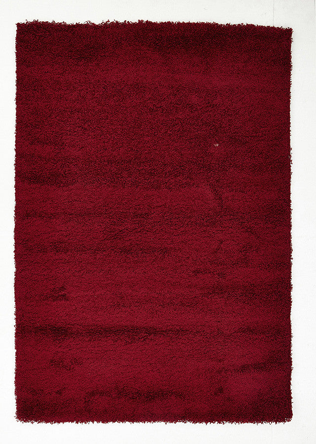 Cosmo Plain Shaggy Rug - Red