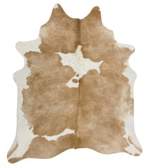 Exquisite Natural Cow Hide Beige White