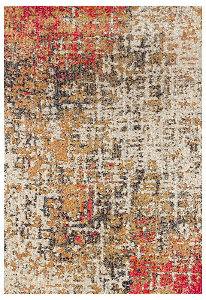Crystal Contemporary Rug - Rust Fuschia