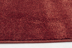 Dense Plain Rust Coloured Rug
