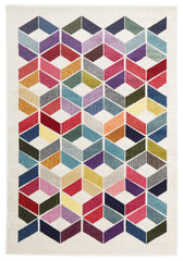 Gemini 508 Rug - White Multi Coloured