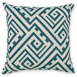 Geo Jacquard Teal Cushion