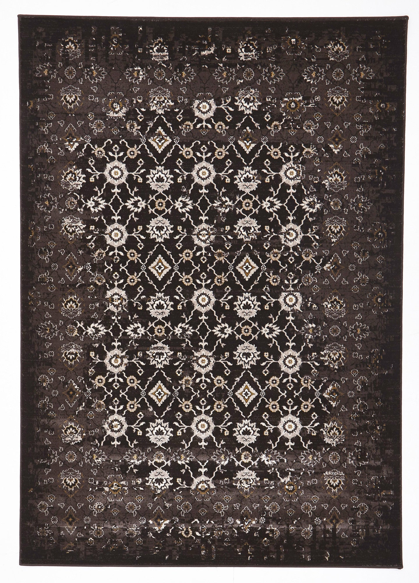 Royal Kashan Designer Rug Chocolate Brown