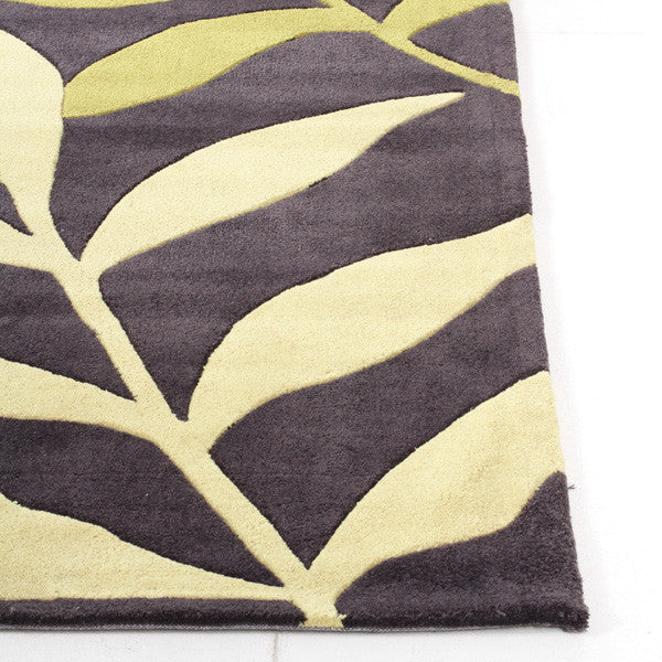 Gold 617 Rug - Lime Charcoal