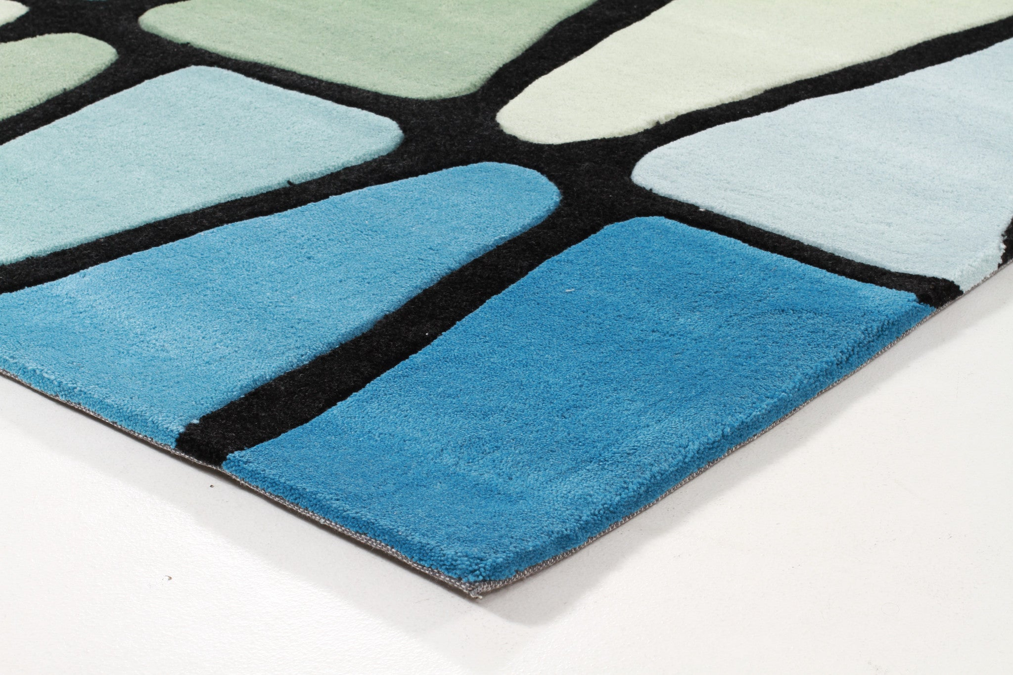 Rock Star Blue And Green Rug
