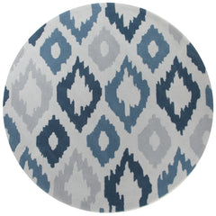 Ikat Diamonds Blue Grey Rug