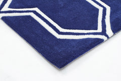 Neo Lattice Design Rug Navy