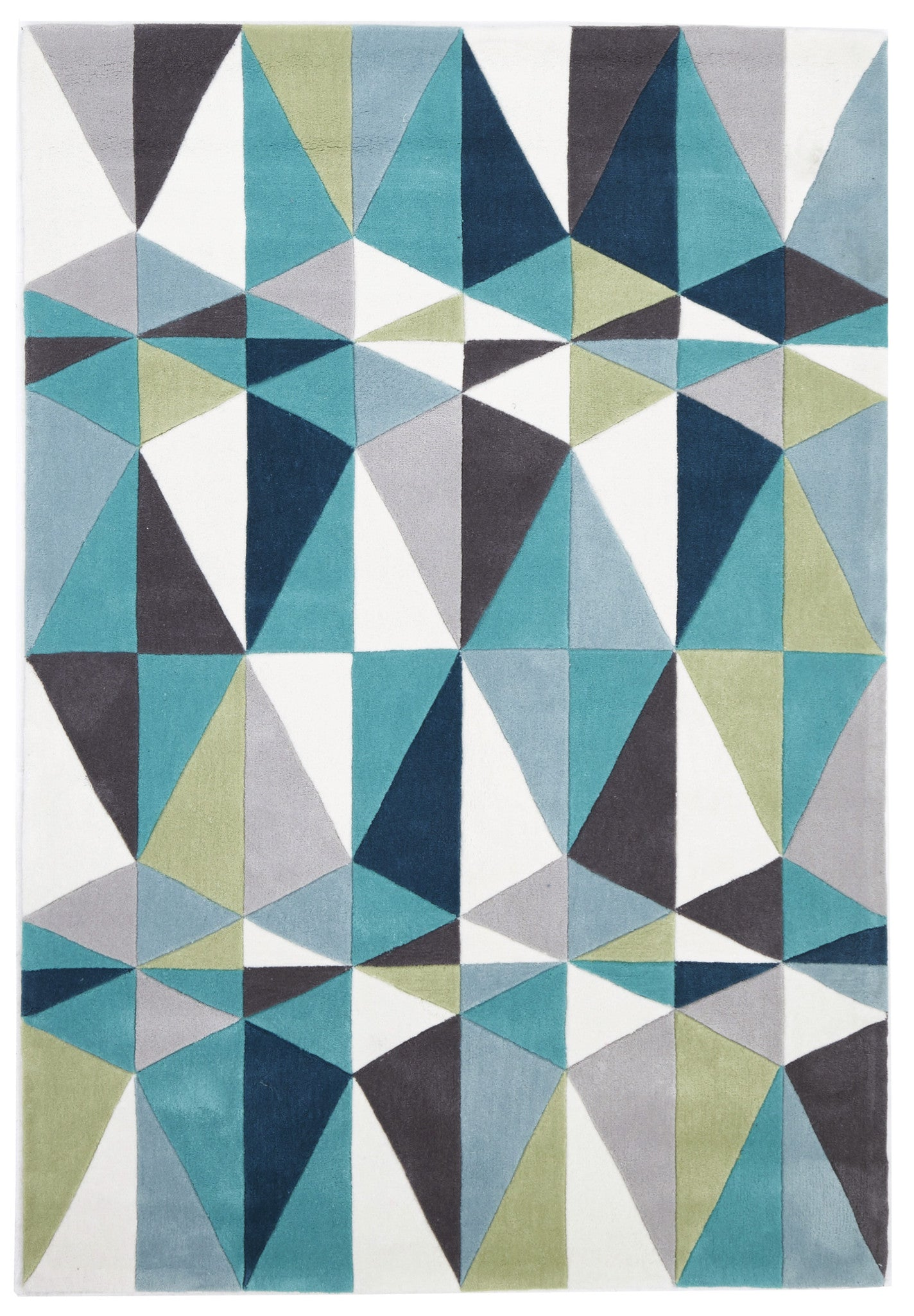 Gold 646 Rug - Charcoal, Blue, Green
