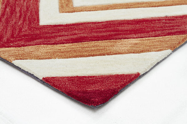 Abrash Chevron Rug Multi Coloured