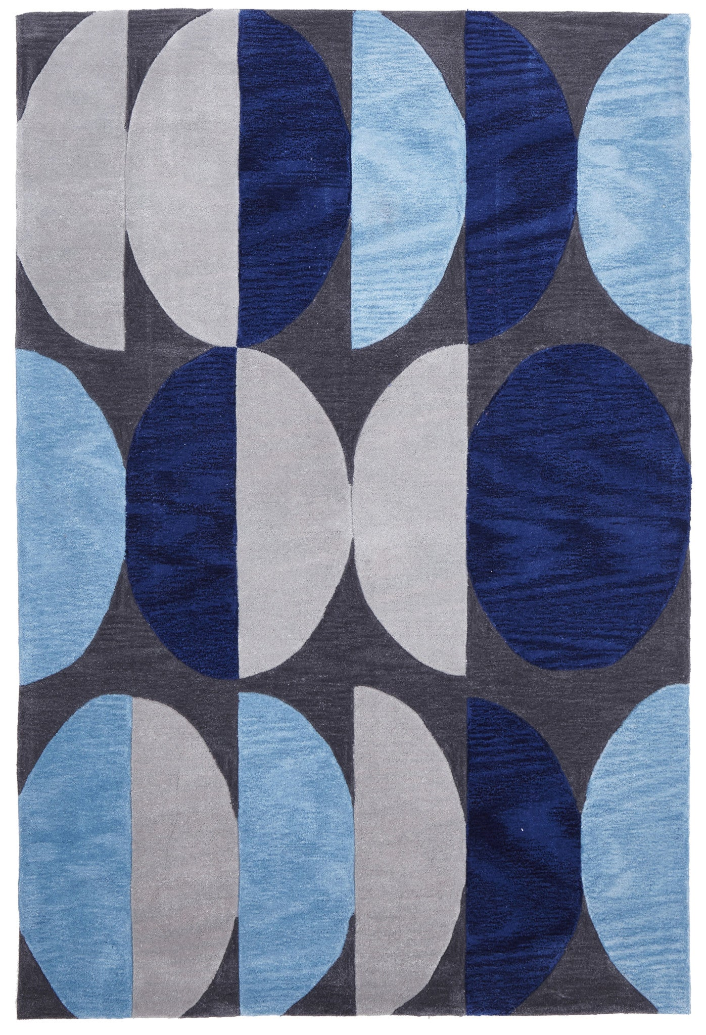 Gold 651 Rug - Blue Navy Grey