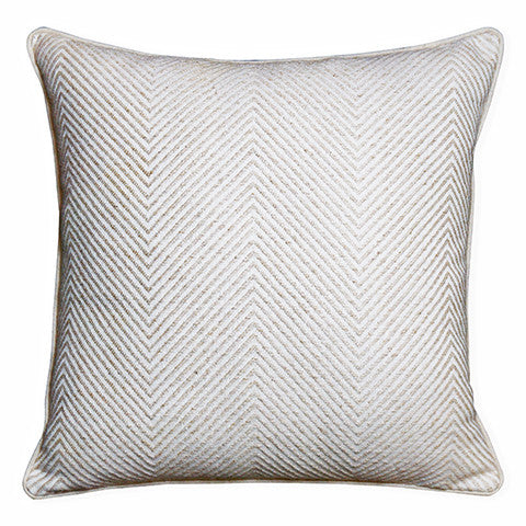 Herringbone Cream Cushion