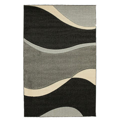 Subtle Waves Rug Grey Black
