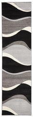 Icon 702 Rug - Grey Black