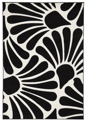 Icon 711 Rug - Black White