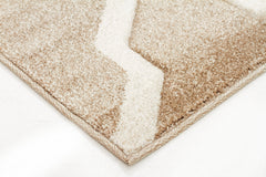 Cross Hatch Modern Rug Beige