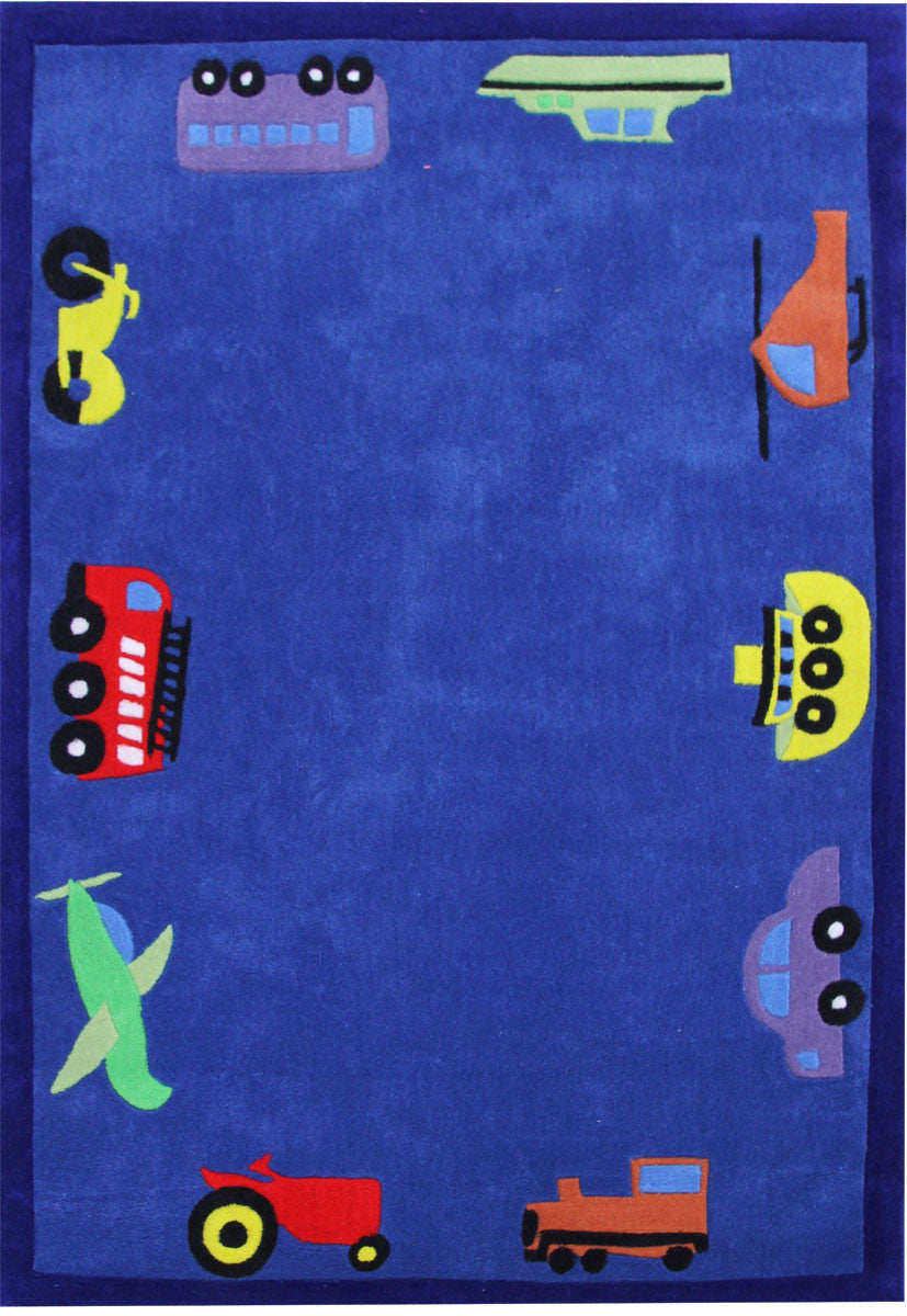 Kidding Around Automobile Rug - Blue